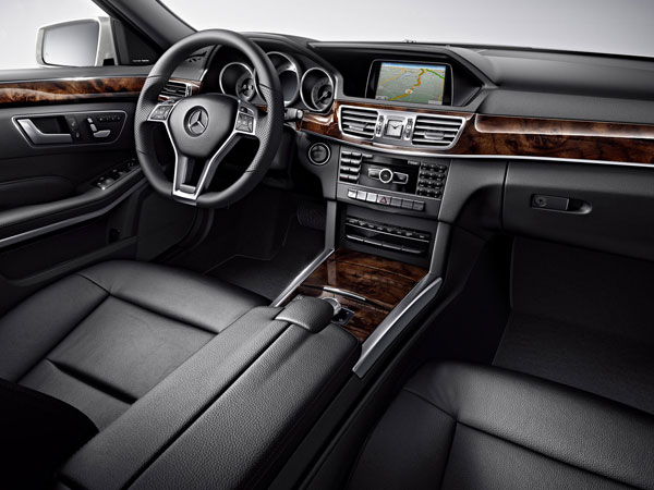 Mercedes E Class Limo's handcrafted interior