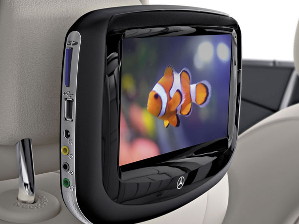 The Mercedes E Class Limo's multimedia system